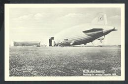 +++ CPA - Avion  Aviation - ZEPPELIN - Landung In Leipzig Flugplatz 1939   // - Dirigeables