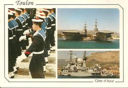 CPA-1975-83-TOULON-MARINE NATIONALE-PORTE AVION-FOCH-CLEMENCEAU-FREGATE Jean BART-TBE - Guerre