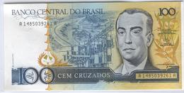 BRAZIL 211b 1986-88 100 Cruzados UNC - Brésil