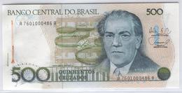 BRAZIL 212d 1986-88 500 Cruzados UNC - Brésil