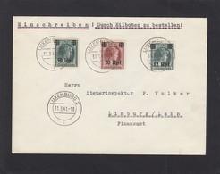 EINGESCHRIEBENE  BRIEF  VON LUXEMBURG NACH LIMBURG/LAHN - 1940-1944 Occupation Allemande
