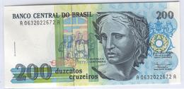 BRAZIL 229 1990 200 Cruzeiros UNC - Brazilië