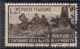 ITALIA  1951 FRANCESCO PAOLO MICHETTI  SASS. 671  USATO VF - 6. 1946-.. Repubblica