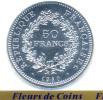 Superbe 50 Francs Argent HERCULE Neuve Et Scellée De 1980 - France