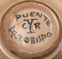 Cendrier Inscrit PUENTE CYR ARZOBISPO - Ceramics & Pottery