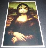 Carte Postale - Mona Lisa - La Joconde - Masterpluss (tête De Chat) - American Postcard - Publicidad