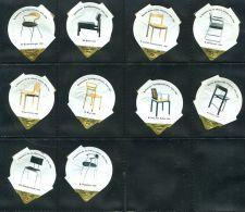 695 - Chaises I - Serie Complete De 10 Opercules Suisse - Milk Tops (Milk Lids)