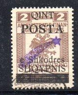 490 48 - ALBANIA 1919 ,  Soprastampa Cometa A Destra Yvert  N. 73  Usato - Albania