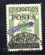 490 49 - ALBANIA 1919 ,  Soprastampa Cometa A Destra Yvert  N. 74  Usato - Albania
