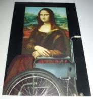 Carte Postale - Mona Lisa - La Joconde (en Fauteuil Roulant) Klaus Staeck - Publicidad
