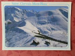 Dep 74 , Cpm  SAINT GERVAIS - BETTEX , Vue Aérienne Des Pistes Du Mont Joux  (295) - Saint-Gervais-les-Bains