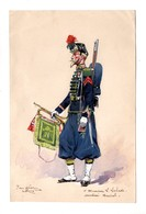 MILITARIA . GOUACHE AQUARELLE ORIGINALE DE PIERRE ALBERT LEROUX . DÉDICACE - Réf. N°15F - - Unclassified