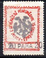 490 56 - ALBANIA 1913 ,  Indipendenza Yvert  N. 21  Nuovo Senza Gomma - Albania