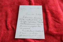 Une Lettre  Du Physicien Et Président Du Conseil Charles De Freycinet Au Colonel Desbrières Années 1880 - Autographes
