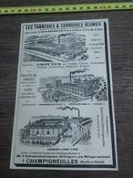 1930 PUBLICITETANNERIES COURROIRIE REUNIES CHAMPIGNEULLES DIEULOUARD ETAIN LIEBER S CODE USED - Vieux Papiers