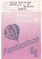 """LOTTERIA ITALIA 1983    /  """" FANTASTICO 4 """" _ Cartolina Per L'estrazione - Giochi, Giocattoli"""
