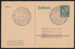 "Germany (1925) Mosel Wine. Cancel On Postal Card ""Das Feinste De Reben Kann Urzig Dirgeben."" - Duitsland"