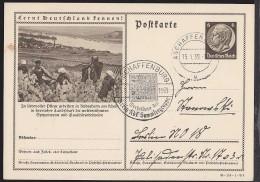Germany (1939) 6 Pf Postal Card With Corner Illustration Of Grape Harvest In Rudesheim An Rhein. - Duitsland