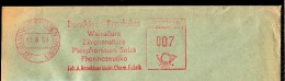 Germany (1957) Red Meter Cancel On Envelope For Benckiser Gmbh Chem.Fabrik Offering Tartrate, Citric Acid, Phosphorus Sa - [7] Federal Republic