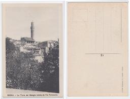 Siena - La Torre Del Mangia, Veduta Da Via Fontanella - Siena