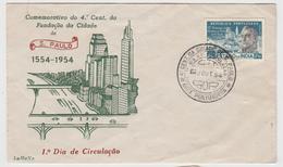 Cover FDC * Portuguese Índia * 1954 * 4º Centenário Da Fundação Da Cidade De S. Paulo 1554-1954 - Inde Portugaise