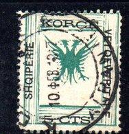 490 65 - ALBANIA 1917 ,  Koritza Yvert  N. 47  Usato  (SHQIPERIE) - Albania