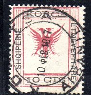 490 66 - ALBANIA 1917 ,  Koritza Yvert  N. 48  Usato  (SHQIPERIE) - Albania