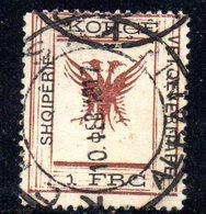 490 69 - ALBANIA 1917 ,  Koritza Yvert  N. 51  Usato  (SHQIPERIE) - Albania