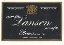 """702 """"CAMPAGNE LANSON PERE & FILS - REIMS  """" ETICH. ORI - Champagne"""