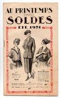"""MODE . CATALOGUE """" AU PRINTEMPS """" PARIS . SOLDES ÉTÉ 1929 - Réf. N°21F - - Fashion"""