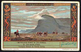 LIEBIG - FR -  1 Chromo N° 2 - Série/Reeks S 1295 - Impressions D'ISLANDE: Les Monts D'Esja. - Liebig