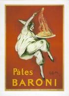 Carte 15X21cm Publicité Pâtes Baroni (2 Scans) - Advertising