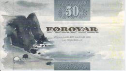Faroe Islands. Banknote. 50 Kroons. UNC. 2001 - Féroé (Iles)