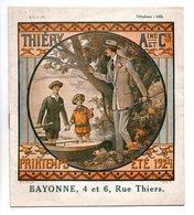 MODE . CATALOGUE PRINTEMPS ÉTÉ 1924 . THIÉRY AINÉ ET Cie . RUE THIERS BAYONNE - Réf. N°22F - - Mode