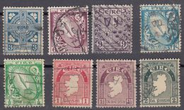 IRLANDA - IRLANDE - EIRE - 1922/1924 - Lotto 8 Valori Obliterati: Yvert 40, 41, 42, 43, 45, 48, 49 E 51. - 1922-37 Stato Libero D'Irlanda