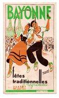 """64 - BAYONNE . PROGRAMME DES """" FÊTES TRADITIONNELLES """" 1947 - Réf. N°26F - - Programs"""