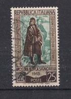 ITALIA  1953  SIGNORELLI  SASS. 725  USATO  XF - 1946-.. République