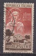 ITALIA  1953 SANTA CHIARA  SASS. 719 USATO VF - 1946-.. République