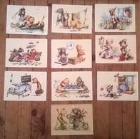 Lot De 10 Cartes Postales Anciennes Illustrateur SA (?) - Autres Illustrateurs