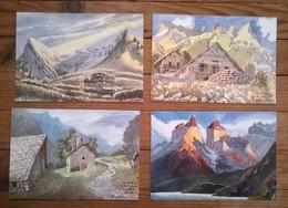 Lot De 6 Cartes Postales Aquarelles D'Alexis NOUAILHAT - Illustrateurs & Photographes