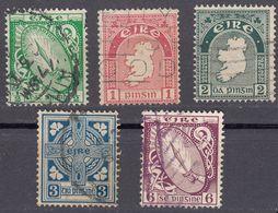 IRLANDA - IRLANDE - EIRE - 1922/1924 - Lotto 5 Valori Usati: Yvert 40, 41, 43, 45, E 48. - Usati