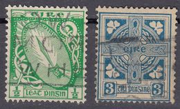 IRLANDA - IRLANDE - EIRE - 1922/1924 - Lotto 2 Valori Usati: Yvert 40 E 45. - Usati