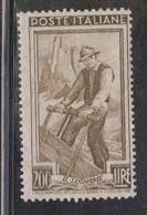 ITALY Scott # 567 MNH - Sawing Wood - 1946-60: Nuovi