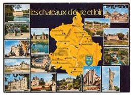 Eure Et Loir --carte Géographique --Chateaux (Dampierre,Anet,St Symphorien,Dreux,Maintenon,Gallardon,Chateaudun ) - Otros Municipios