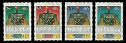 AITUTAKI COOK ISLANDS 1984 SPORT OLYMPICS BASKETBALL JAVELIN ATHLETICS SET MNH - Aitutaki