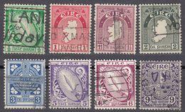 IRLANDA - IRLANDE - EIRE - 1941/1944 - Lotto 8 Valori Usati: Yvert 78, 79, 80, 81, 83, 85, 86 E 87. - 1937-1949 Éire