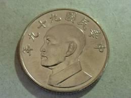2010 NT$5.00 Chiang Kai-shek CKS Coin - Taiwan