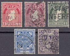 IRLANDA - IRLANDE - EIRE - 1941/1944 - Lotto 5 Valori Usati: Yvert 79, 80, 81, 83 E 87. - 1937-1949 Éire