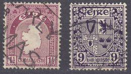 IRLANDA - IRLANDE - EIRE - 1941/1944 - Lotto 2 Valori Usati: Yvert 80 E 87. . - 1937-1949 Éire