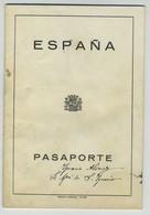 Passeport Espagnol Valable Pour La France Et L'Espagne. España. Pasaporte. Délivré à Oviedo En 1932. Étudiante. - Historische Documenten